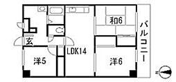 横川中谷ビル[4階]の間取り