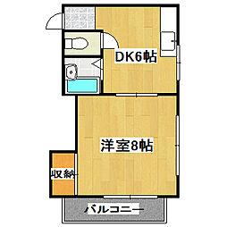 メゾン桃栄[303号室]の間取り