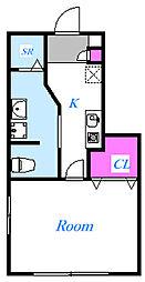 ラメルヴェイユ[1階]の間取り