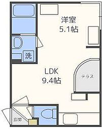 北海道札幌市東区北十条東13丁目の賃貸マンションの間取り