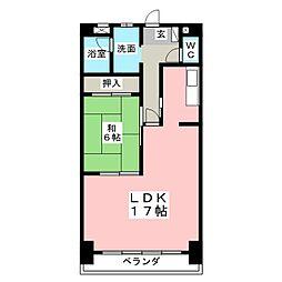 88ビルディング[3階]の間取り