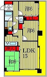 ライオンズプラザ船橋本町[14階]の間取り