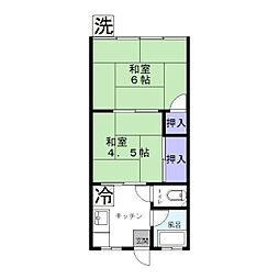 東京都足立区保木間3丁目の賃貸アパートの間取り
