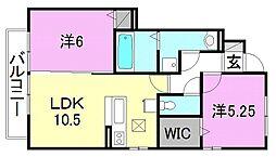 カルムM A棟・B棟[A102 号室号室]の間取り