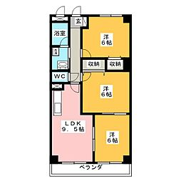 Peach花の家[6階]の間取り