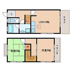 [テラスハウス] 奈良県香芝市下田東5丁目 の賃貸【/】の間取り