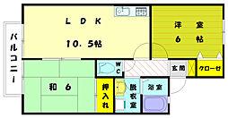 福岡県古賀市舞の里4丁目の賃貸アパートの間取り
