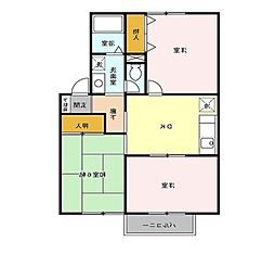 埼玉県上尾市中妻5丁目の賃貸アパートの間取り