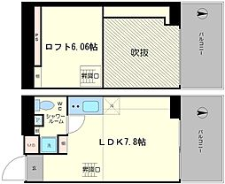 是空NANBANISHI[804号室]の間取り