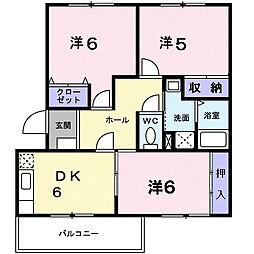 埼玉県北本市本町1丁目の賃貸マンションの間取り