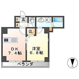 エクセルハイツ七番館[4階]の間取り