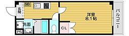 Osaka Metro谷町線 守口駅 徒歩9分の賃貸マンション 3階1Kの間取り