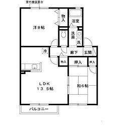 カモミール伏見A棟[2階]の間取り