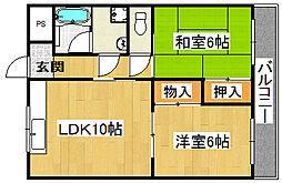 ハイム山田[3階]の間取り