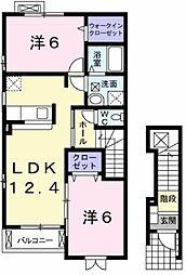 Calme Kurinoki[2階]の間取り