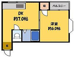 エクセル古川橋[4階]の間取り
