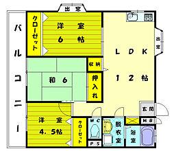 ロジュマン古賀II[2階]の間取り