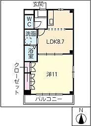 メゾン青樹II[1階]の間取り