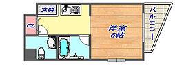 クレール六甲[306号室]の間取り