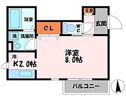 メゾンドルチェ[3階]の間取り