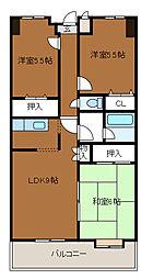 第3SKビル[6階]の間取り