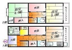 [一戸建] 大阪府吹田市片山町4丁目 の賃貸【/】の間取り