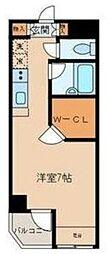 東京都世田谷区大蔵2丁目の賃貸マンションの間取り