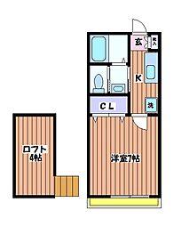 プレリュード立川[2階]の間取り