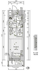 プレール・ドゥーク文京湯島 13階1Kの間取り