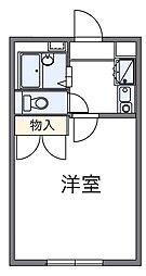 レオパレスムーンライト[1階]の間取り