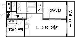 GRマンション[202号室]の間取り