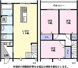 [一戸建] 滋賀県彦根市正法寺町 の賃貸【/】の間取り