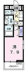 神奈川県横浜市都筑区牛久保西1丁目の賃貸アパートの間取り