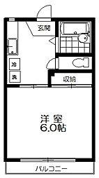 東京都練馬区上石神井2丁目の賃貸アパートの間取り