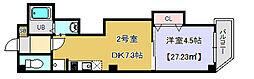 千葉県千葉市中央区今井2丁目の賃貸マンションの間取り