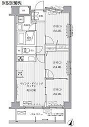 サニーリヴ北新横浜[4階]の間取り