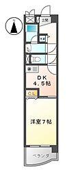 愛知県名古屋市中村区名駅南3の賃貸マンションの間取り