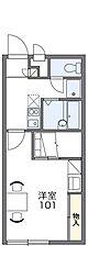 近鉄南大阪線 古市駅 徒歩23分の賃貸アパート 1階1Kの間取り