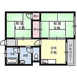 田村マンション[3階]の間取り