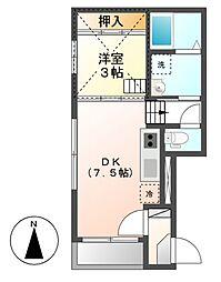 ファミリエNagoya[2階]の間取り