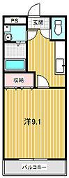 サニーレイク(屋代)[102号室号室]の間取り