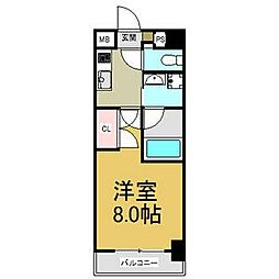 JR中央本線 大曽根駅 徒歩2分の賃貸マンション 3階1Kの間取り