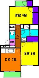 静岡県浜松市中区萩丘1丁目の賃貸マンションの間取り