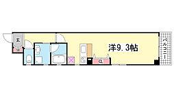 兵庫県神戸市中央区中山手通1丁目の賃貸マンションの間取り