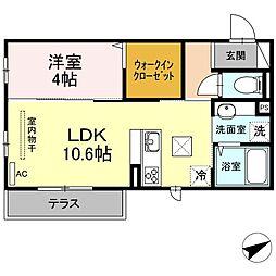 (仮)D-room山本3丁目[1階]の間取り