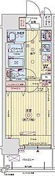 レオンヴァリエ大阪ベイシティ[805号室]の間取り