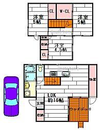 [テラスハウス] 大阪府茨木市上穂積4丁目 の賃貸【大阪府 / 茨木市】の間取り