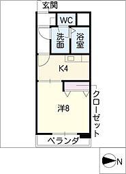 COURTEAST[2階]の間取り