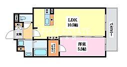 BO BEDRE KOSAKA(ボーベダー小阪)[2階]の間取り
