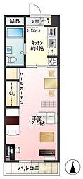 東京都小金井市貫井北町1丁目の賃貸マンションの間取り